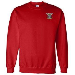 DISCOUNT-Delta Kappa Epsilon World Famous Crest - Shield Crewneck Sweatshirt
