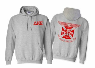 Delta Kappa Epsilon World Famous Crest - Shield Printed Hooded Sweatshirt- $35!