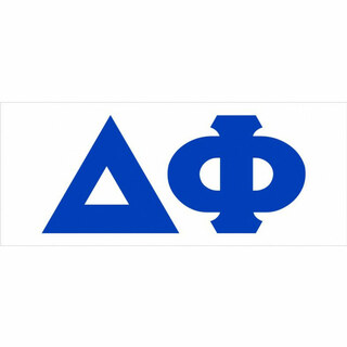 Delta Phi Big Greek Letter Window Sticker Decal