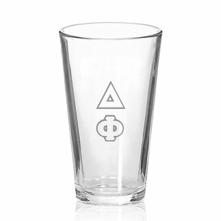 Delta Phi Big Letter Mixing Glass