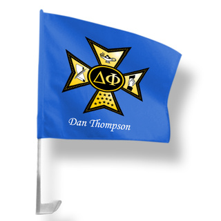 Delta Phi Car Flag