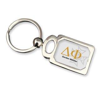 Delta Phi Chrome Crest Key Chain