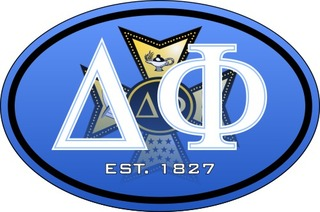 Delta Phi Color Oval Decal