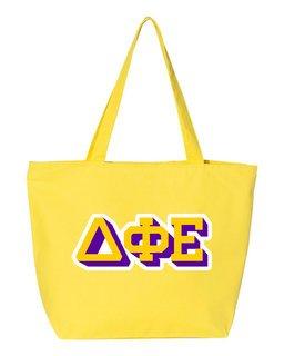 Delta Phi Epsilon 3D Letter Tote Bag