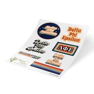 Delta Phi Epsilon 70's Sticker Sheet