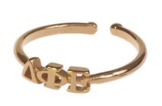 Delta Phi Epsilon Adjustable Letter Ring