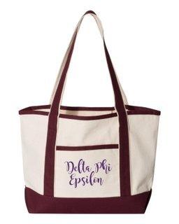 Delta Phi Epsilon Sailing Tote Bag