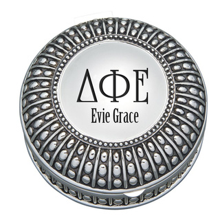 Delta Phi Epsilon Antique Beaded Pin Box