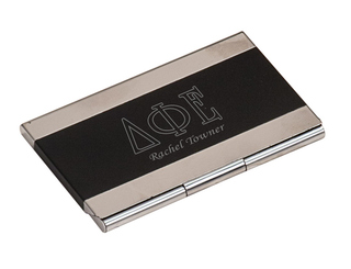 Delta Phi Epsilon Business Card Holder