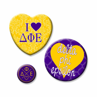 Delta Phi Epsilon Button Set