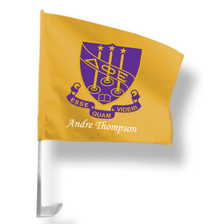 Delta Phi Epsilon Car Flag
