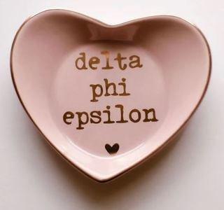 Delta Phi Epsilon Ceramic Ring Dish
