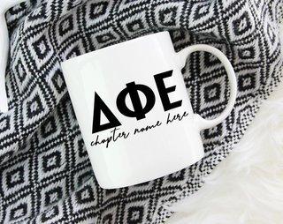 Delta Phi Epsilon Chapter Mug