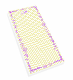 Delta Phi Epsilon Chevron Long Notepad