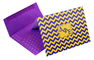 Delta Phi Epsilon Chevron Note Cards w/ Envelopes (10)