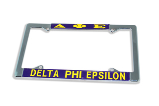Delta Phi Epsilon Chrome License Plate Frame