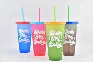 Delta Phi Epsilon Color Changing Cups (Set of 4)
