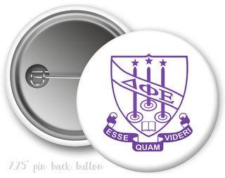 Delta Phi Epsilon Color Crest - Shield Button