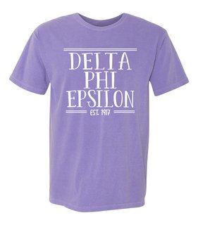 delta phi epsilon comfort colors heavyweight design t. Black Bedroom Furniture Sets. Home Design Ideas