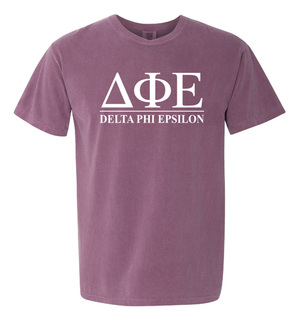 Delta Phi Epsilon Comfort Colors Heavyweight T-Shirt