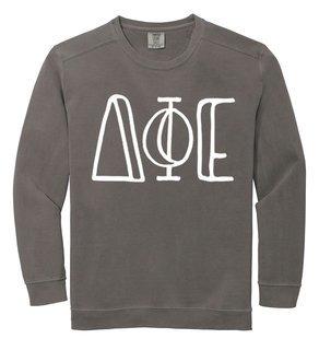 Delta Phi Epsilon Comfort Colors Greek Crewneck Sweatshirt