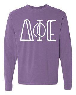 Delta Phi Epsilon Comfort Colors Greek Long Sleeve T-Shirt