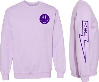 Delta Phi Epsilon Comfort Colors Lightning Crew Sweatshirt