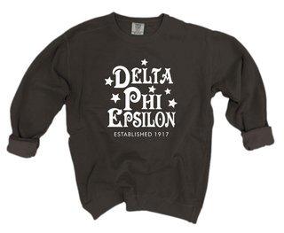 Delta Phi Epsilon Comfort Colors Old School Custom Crew