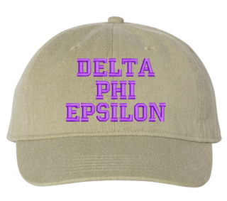 Delta Phi Epsilon Comfort Colors Pigment Dyed Baseball Cap