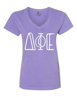 Delta Phi Epsilon Comfort Colors V-Neck T-Shirt