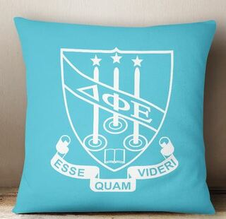 Delta Phi Epsilon Crest - Shield Colored Pillow
