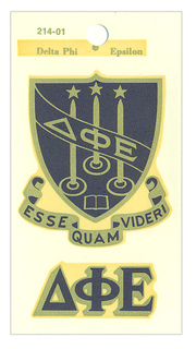 Delta Phi Epsilon Crest - Shield Decals