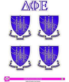 Delta Phi Epsilon Crest Sticker Sheet