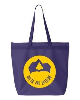 Delta Phi Epsilon Circle Mascot Tote bag