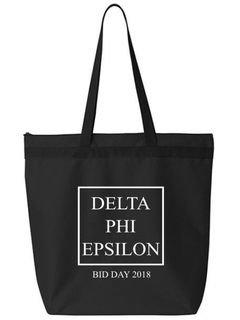 Delta Phi Epsilon Box Tote bag