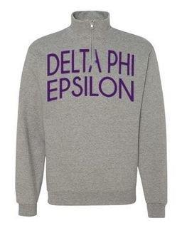 Delta Phi Epsilon Over Zipper Quarter Zipper Sweatshirt