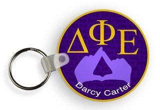 Delta Phi Epsilon Custom Mascot Keychains
