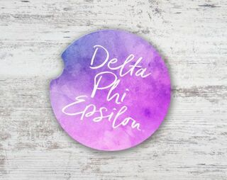 Delta Phi Epsilon Sandstone Car Cup Holder Coaster