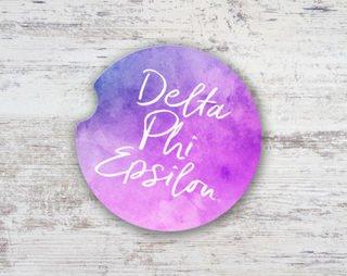 Delta Phi Epsilon Sandstone Car Cup Holder Coaster