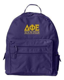 Delta Phi Epsilon Custom Text Backpack