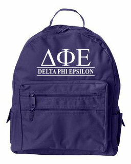 Delta Phi Epsilon Custom Text Backpack