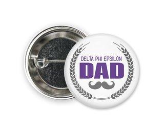 Delta Phi Epsilon Dadstache Button