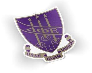 Delta Phi Epsilon Die Cut Crest Sticker