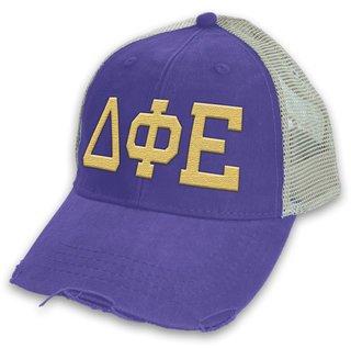 Delta Phi Epsilon Distressed Trucker Hat