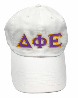 Delta Phi Epsilon Double Greek Letter Cap