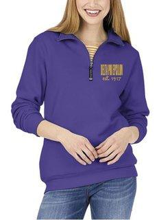 Delta Phi Epsilon Established Crosswind Quarter Zip Sweatshirt