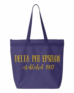 Delta Phi Epsilon Established Tote bag