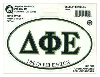 Delta Phi Epsilon Euro Style Sticker