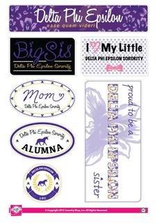 Delta Phi Epsilon Family Sticker Sheet