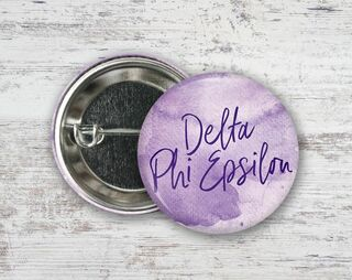 Delta Phi Epsilon Watercolor Button